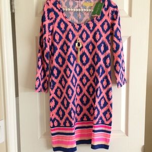 NWT Lilly Pulitzer Beacon Dress Fish Chase Blue